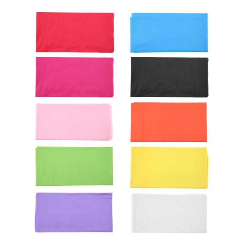 10 Colors Plastic Rectangle Tablecloth Cover For Camping