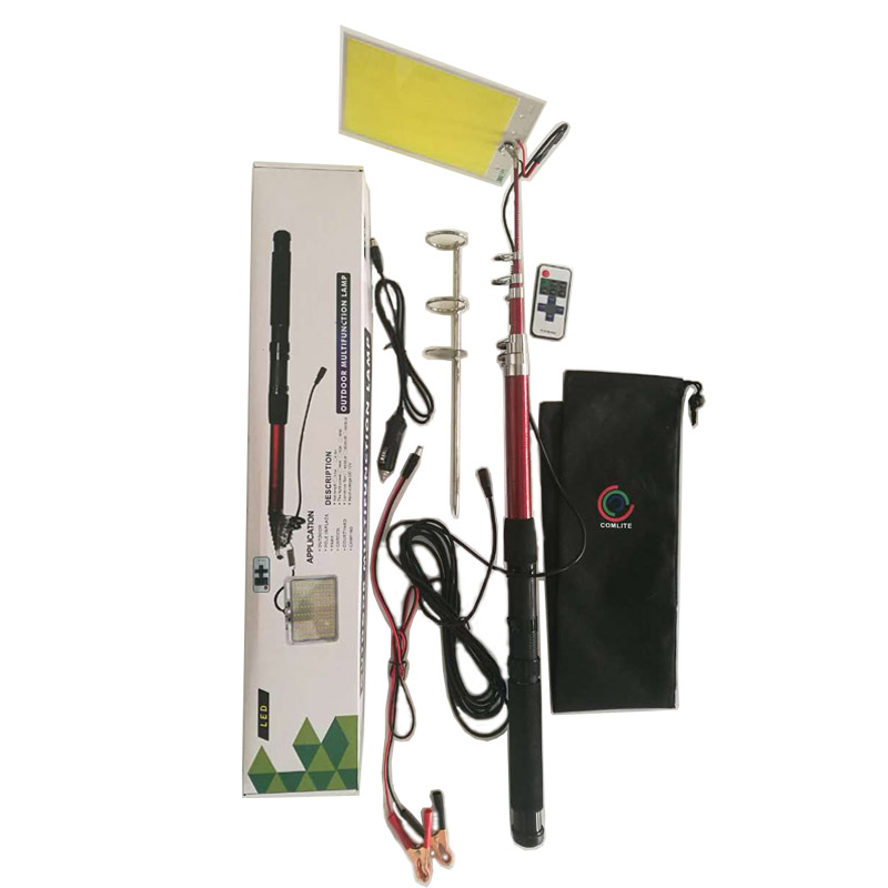 336pcs 5000LM LEDs COB 12V LED Telescopic Fishing Rod Outdoor Camping Road Trip Street Lights