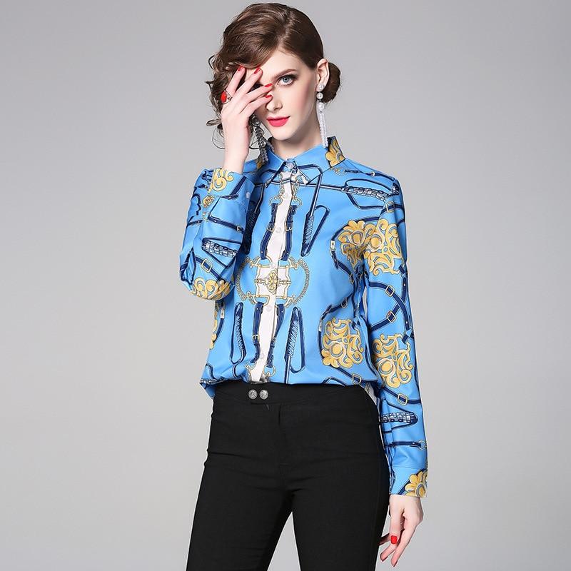 Women Blouse Shirt 2019 Female Clothing Long Sleeve Blusas Elegant Women 39 s Office Blouses Print Lady OL Top blouse haut femme in Blouses amp Shirts from Women 39 s Clothing