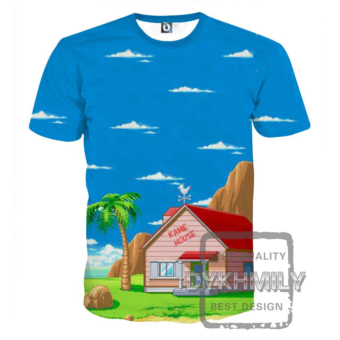 Design t shirt price - Dykhmily 2017 Summer New Arrivals Dragon Ball Z 3d Print Kame House Funny T Shirts Fashion