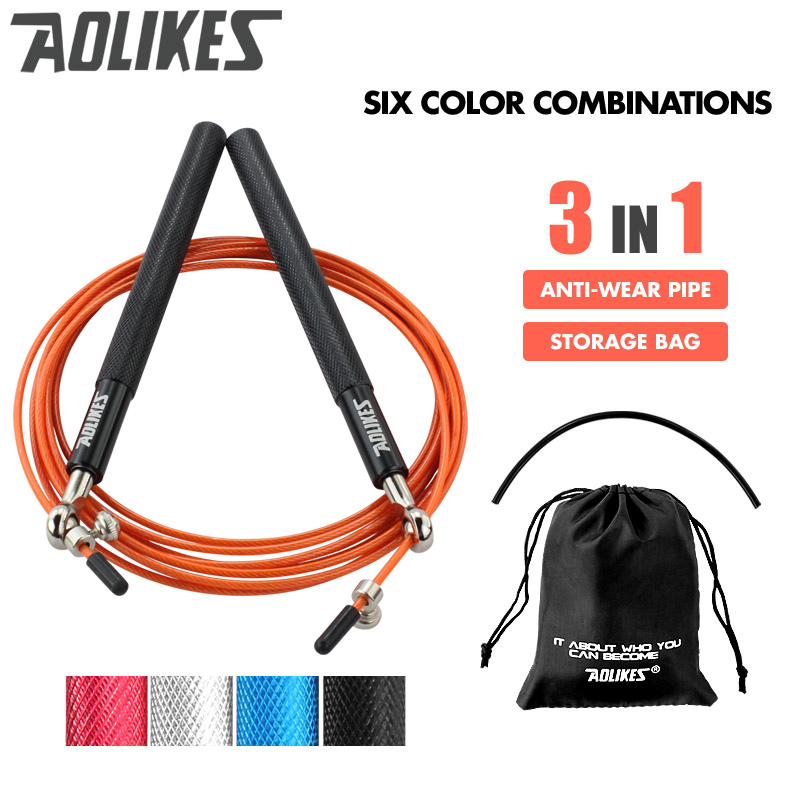 <font><b>Crossfit</b></font> Speed Jump <font><b>Rope</b></font> Professional <font><b>Skipping</b></font> <font><b>Rope</b></font> For MMA Boxing Fitness Skip Workout Training With Carrying Bag Spare Cable image