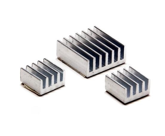 1Set/lot Adhesive Aluminum Heatsink Radiator Cooler Kit For Cooling Raspberry Pi New Heat Sink Fans