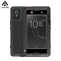 Love Mei Metal Armor Case For Sony Xperia XA1 Ultra 6 Inch Powerful Shockproof Cover Fundas