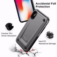 20 pcs Strong Hybrid Tough Shockproof Armor Phone Back Case for iPhone X XS Max XR 6 6S Plus 7 8 Plus Hard Rugged Impact Cover