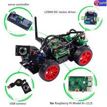 SunFounder Smart Fernbedienung Video Auto Kit für Raspberry Pi 3 mit Android APP Kompatibel mit RPi 3 Modell B + B 2B 1 B +