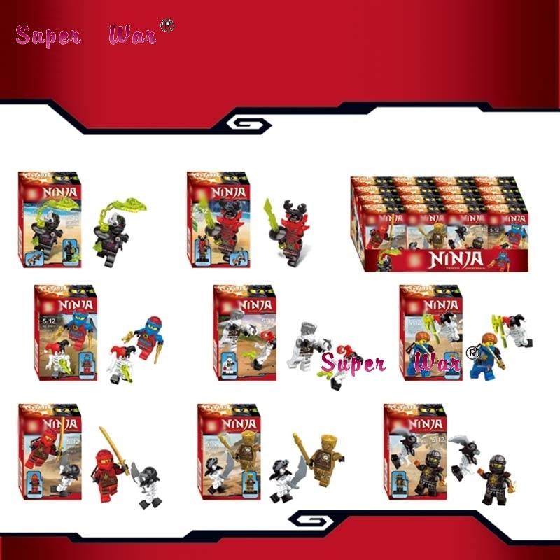 8pcs star wars super heroes marvel Phantom Golden Ninja Collection building blocks action model bricks toys for children