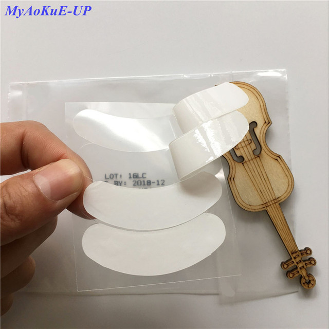 High Quality 40 Packs 3D Silicone Thin Eye Pads Under Lashes Patches Eyelash Extension Cosmetic Tools
