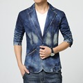 Mens casual blazer Jeans coat Denim Jacket Slim fit new 2016 cotton hombre Autumn high quality mens fashion blazers giacca uomo