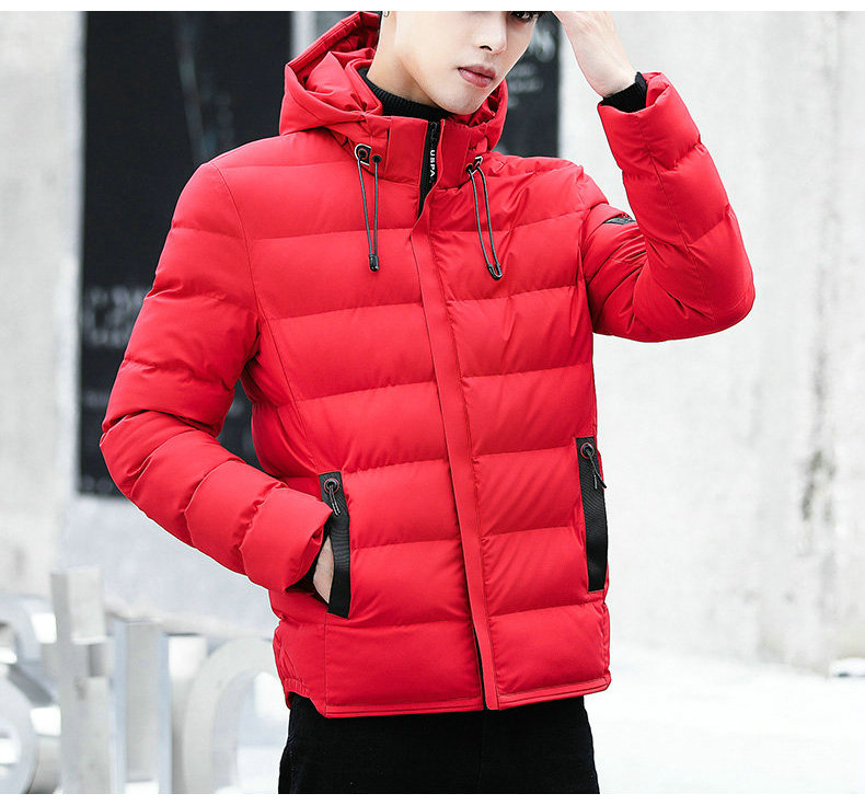 drop shipping New Fashion Men Winter Jacket Coat Hooded Warm Mens Winter Coat Casual Slim Fit Student Male Overcoat ABZ82 9
