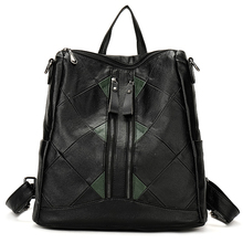 YILIAN Female bag leisure Joining together Ms. backpack 2018 New product Backpack School Bags PU Travel bagZ8917
