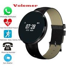Новинка 2017 года volemer CF006 Bluetooth 4.0 SmartBand трекер сердечного ритма Мониторы Приборы для измерения артериального давления кислорода Фитнес для iOS и Android