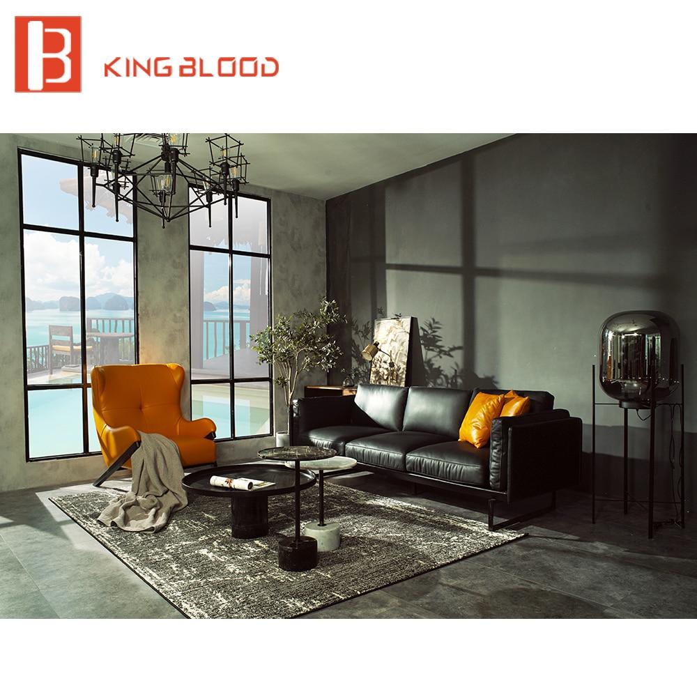 Shop Yellow Genuine Leather Sofa Set: Aliexpress.com : Buy Modern Living Room Genuine Leather
