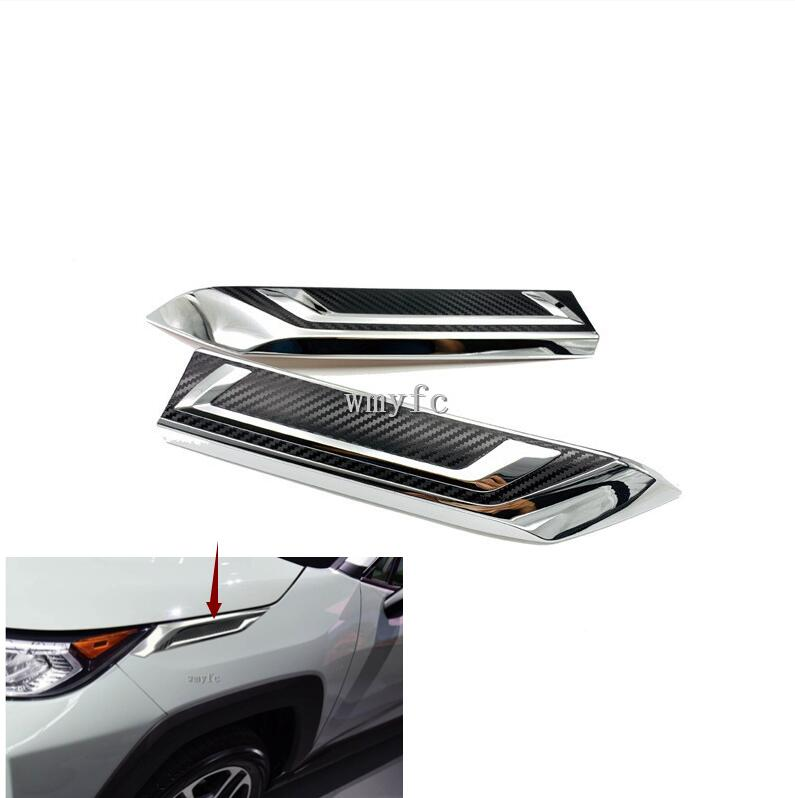 For Toyota RAV4 2019 2020 High Quality ABS Chrome Front Head Light Lamp Eyelids Garnish Cover Trim Car AccessoriesFor Toyota RAV4 2019 2020 High Quality ABS Chrome Front Head Light Lamp Eyelids Garnish Cover Trim Car Accessories