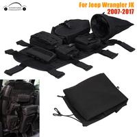 Front Seat Covers Storage Bags Multi Pockets Tool Saddle Bag For Jeep Wrangler JK 07 17 Multifunction Cargo Pouches KOLEROADER /