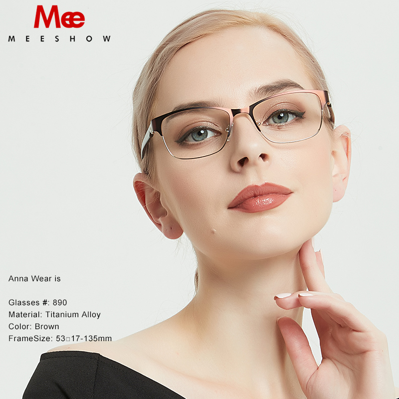 MEESHOW Titanium Alloy Optical Glasses Frame Women's Glasses Men Eyeglasses 2019 Myopia Prescription Glasses Denmark Glasses 809