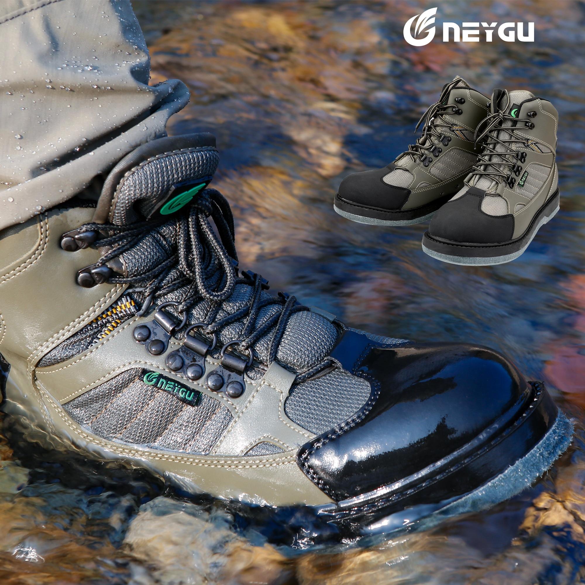 Bottes en amont Neygu avec semelle en feutre, en tissu à séchage rapide. Les bottes Aqua peuvent être utilisées en camping, en chasse.