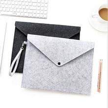 Men Briefcase Office Portable File Organizer Paper A4 Wool Felt Portfolio Folder