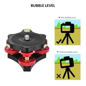 "Image 5 - Andoer LP 64 Tripod Leveling Base Tri wheel Precision Leveler with Bubble Level 3/8"" Screw Aluminum Alloy Max. 15kg/33Lbs"