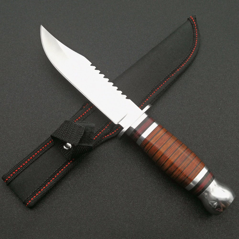 knives sale mengoing hard tough 5cr13mov steel fixed blade hunting