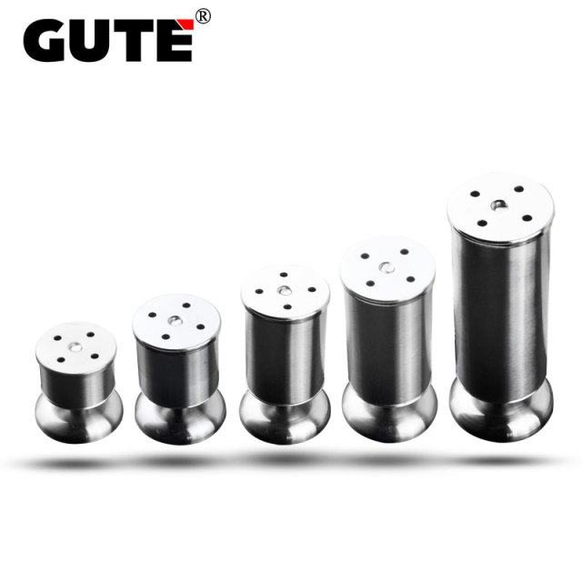 GUTE 4Pcs/Pack Stainless Steel Furniture Leveler Heavy Duty Adjustable Leg  Table Leveling Feet Cabinet