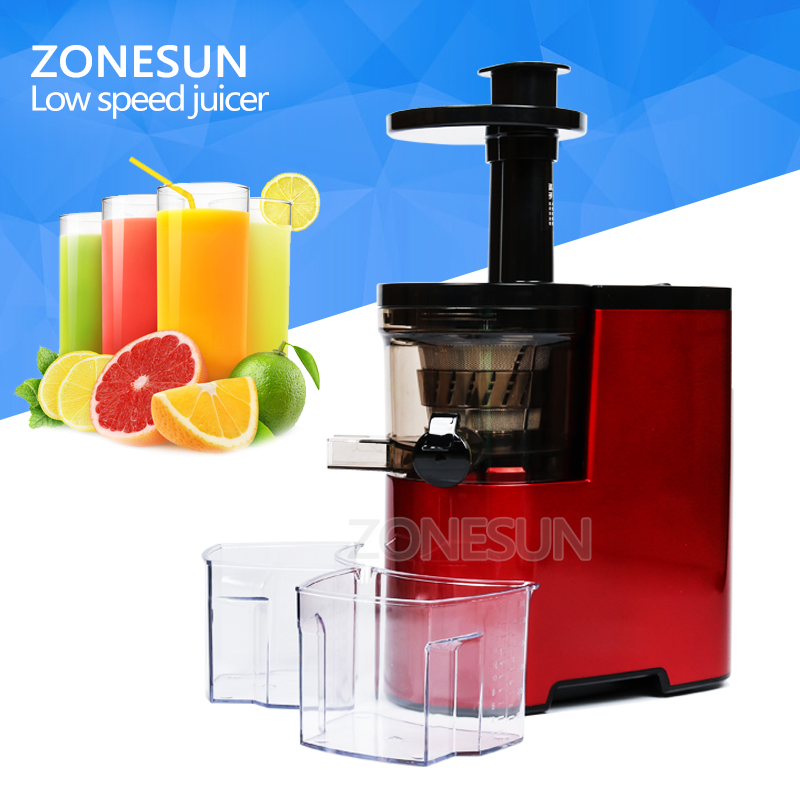 ZONESUN Slow Juicer 220V Fruits Vegetables Low Speed Slowly Juice Extractor Juicers Fruit Drinking Machine цена 2017