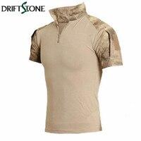 Tactical Camouflage Shirt Combat Shirt Männer Armee Multicam Uniform Kurzen T-shirt SWAT Emerson Paintball Kleidung