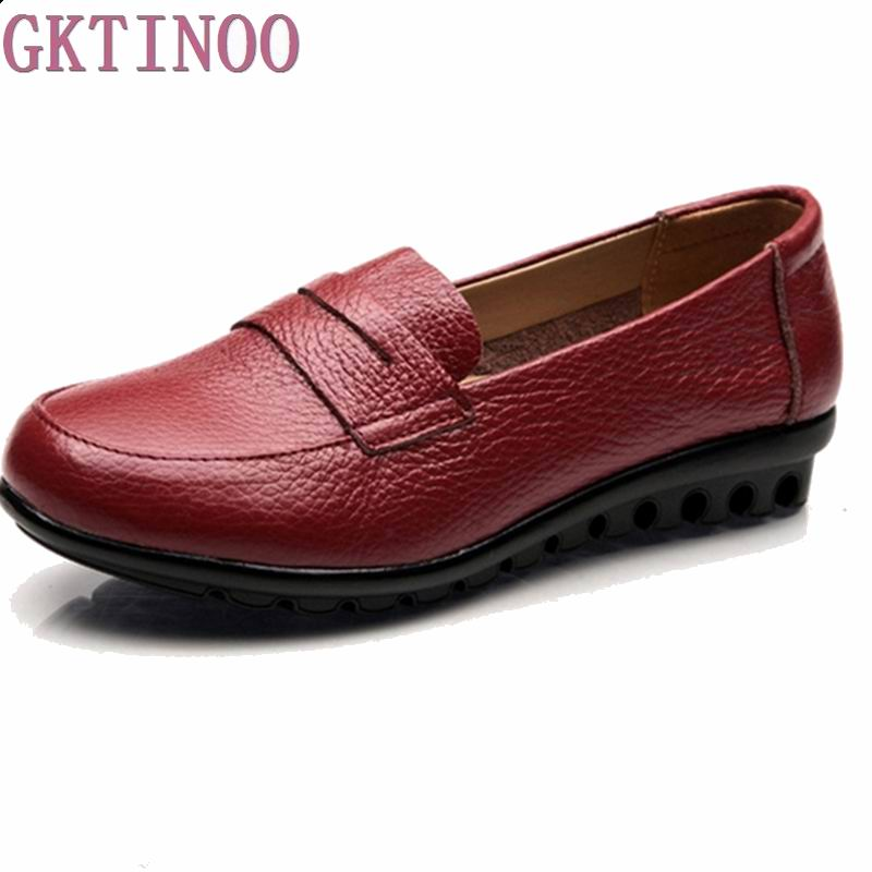 Women 100% Genuine Leather Mother Shoes Moccasins Women's Soft Leisure Flats Ladies Driving Shoes Flat Loafers size35-41 цены онлайн