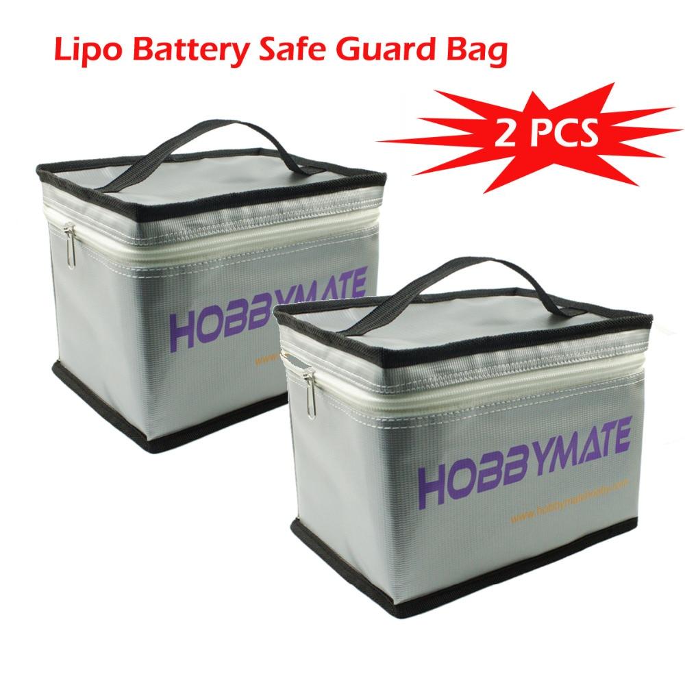 Hobbymate  2PCS Lipo Battery Safe Guard Bag Fireproof Explosionproof Charging Storage Free shipping for EUB