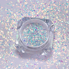 hot deal buy ab color nail glitter powder sequins irregular star round iridescent nail flakes manicure nail art decoration for gel polish