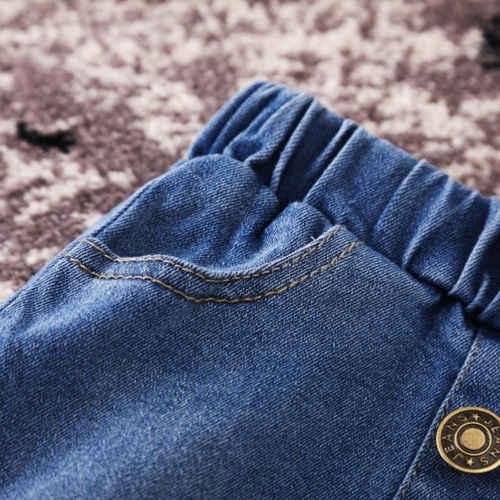 52c38cb41c ... Kids Button Skirt Jeans for Girl Denim Mini Skirt Casual Fashion Baby  Girl Cute Toddler Blue ...