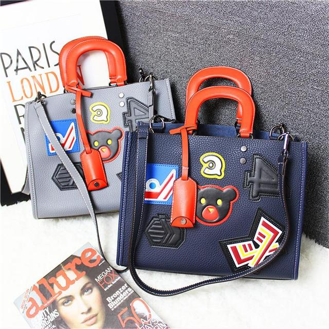 Designer Handbags High Quality Women Bag Fashion 2017 Brand Ladies hand bag Big Leather Lady Shoulder Messenger Bag Women's Tote