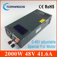 2000W 41.6A 0 48V Switching power supply for Industrial control DC motor power suply input 220v ac to dc power supply LS 2000 48