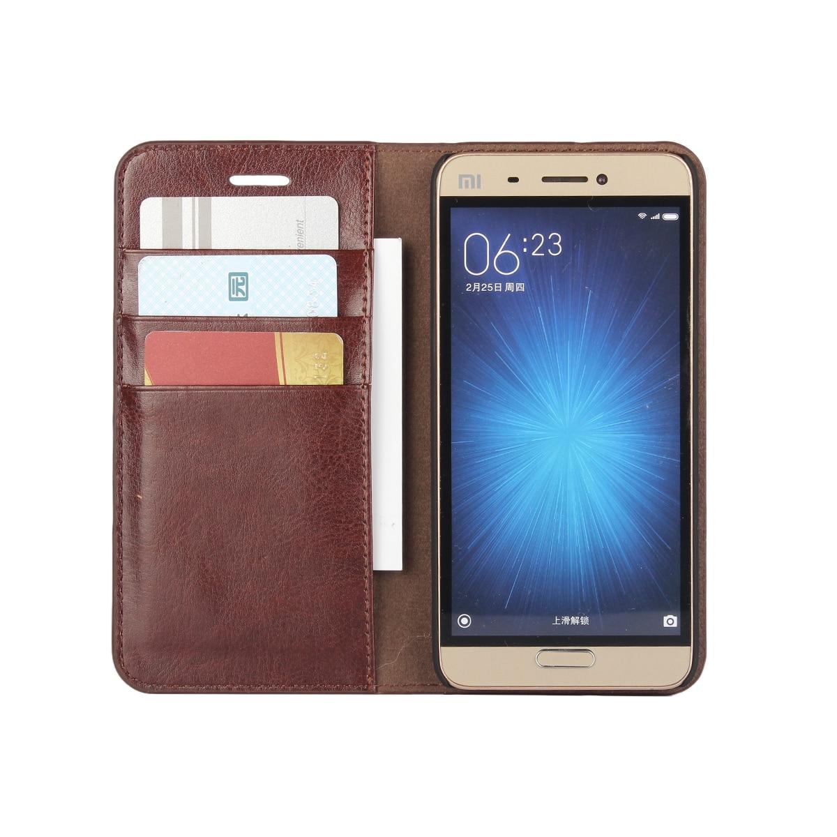 imágenes para Caja de la Carpeta de lujo Para Xiaomi Mi5 miui5 premium Funda de cuero Xiaomi Mi5 Flip Cubierta Del Teléfono Bolsas