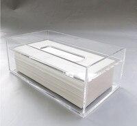 Portatovaglioli creativo Scatola Del Tessuto Trasparente Chiaro Bello Acrilico Rettangolare Holder Box Cover