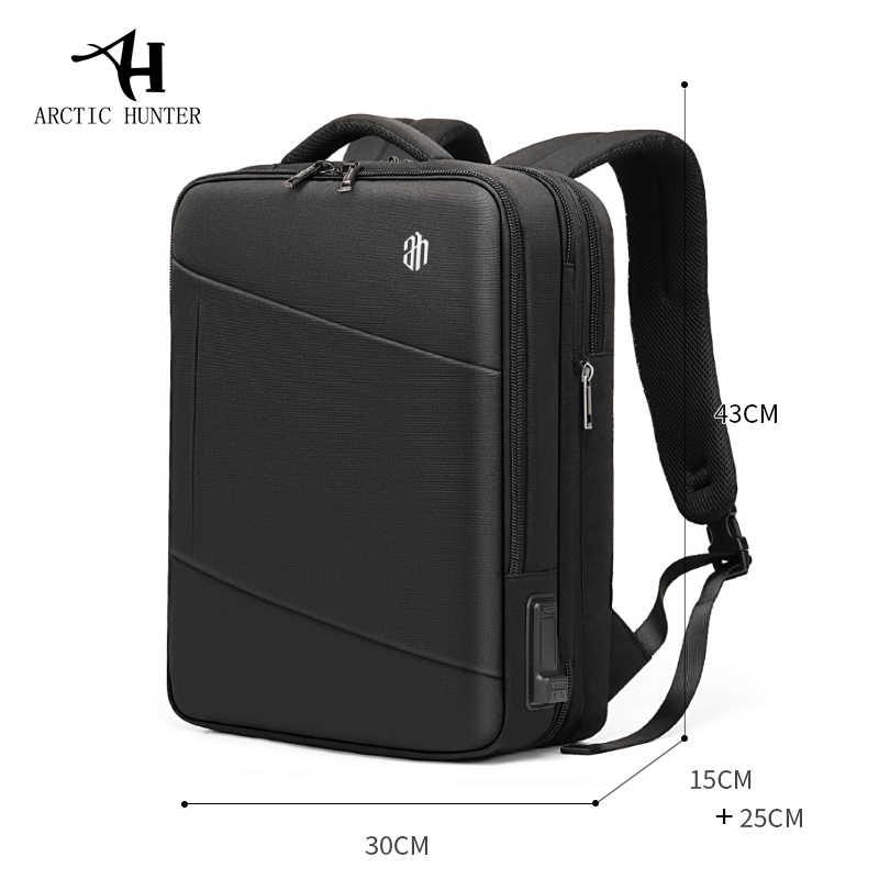2019 novo Homem Mochila Fit 15.6 polegada Laptop USB Recarga Multi-camada de Alta capacidade Masculino Saco de Viagem mochilas