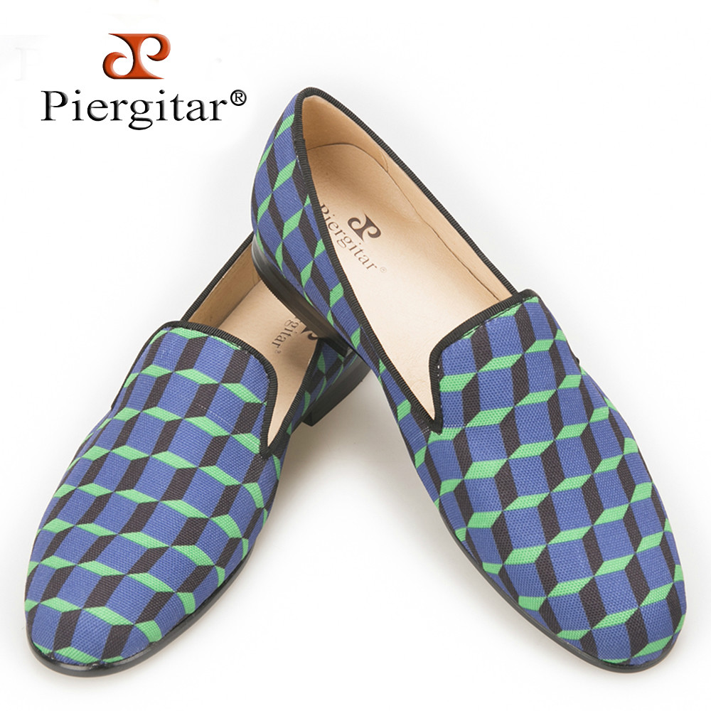 Piergitar 2016 New Arrival Handcraft Multi-Colors 3D Print Check women's Casual Canvas Shoes Loafer For Daily, Wedding and Party new arrival women s casual shoes graffiti leopard print 3 colors canvas shoes soft loafer women flat shoes hse16