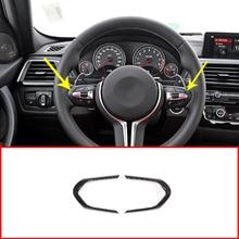 2x Carbon Fiber Style ABS Steering Wheel Decoration Frame Trim For BMW F20 F22 F30 F32 F33 F36 F06 F12 F13 X5 F15 X6 F16 M-Sport все цены