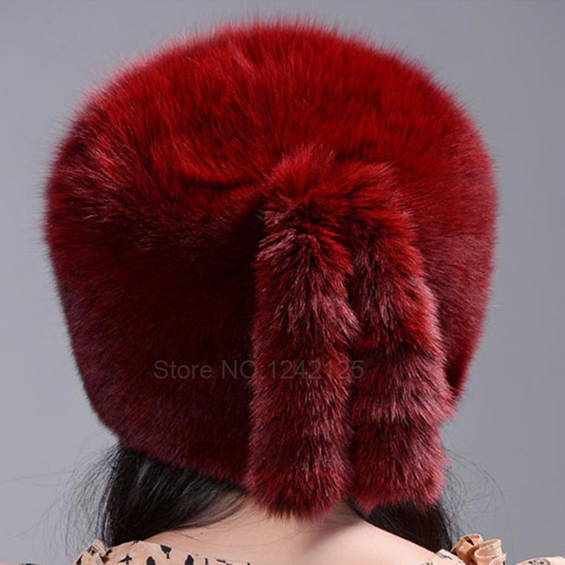 New autumn winter warm children fur hat women parent-child real fox hat with two tails fox Mongolia fur hat cute round hat cap the new children s cubs hat qiu dong with cartoon animals knitting wool cap and pile