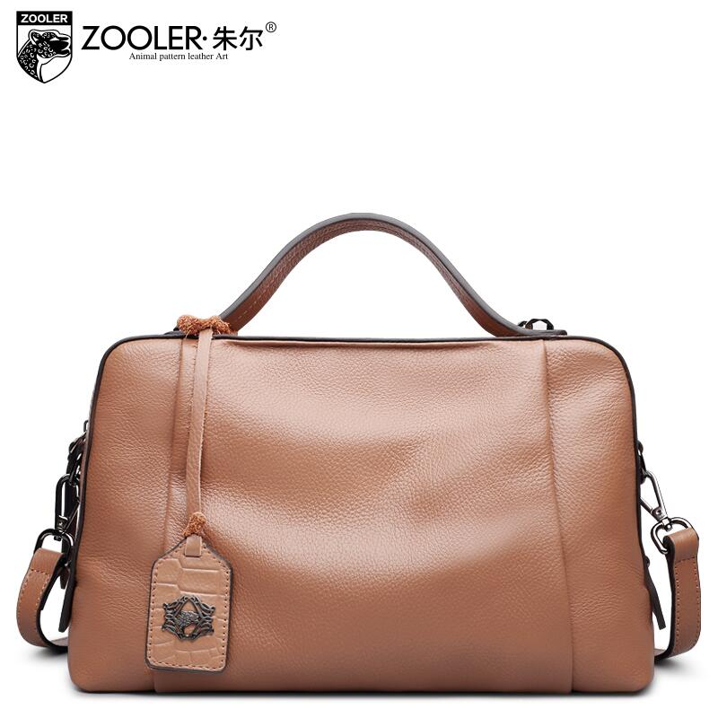 zooler New women bag Superior cowhide genuine leather bag brands fashion Boston bag women leather handbags