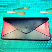 Women leather envelope design color patch wallet cutting die knife mould hand punch tool pressure machine template
