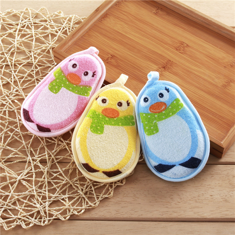 1pc Cartoon Child Bathing Sponge Take a Bath Sponge Scrubbers Bath Brushes Bath Supplies Accessories Soft And Comfortable 9*13cm