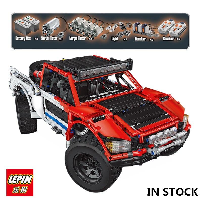 В наличии Лепин 23013 натуральная 2314 шт. техника MOC серии внедорожник автомобилей пикап кирпичи строительный Набор сделай сам блоки игрушки ма...