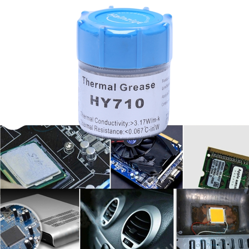 10g HY710-CN10 Thermal Grease CPU Chipset Cooling Compound Silicone Paste 3.17W   10g HY710-CN10 Thermal Grease CPU Chipset Cooling Compound Silicone Paste 3.17W