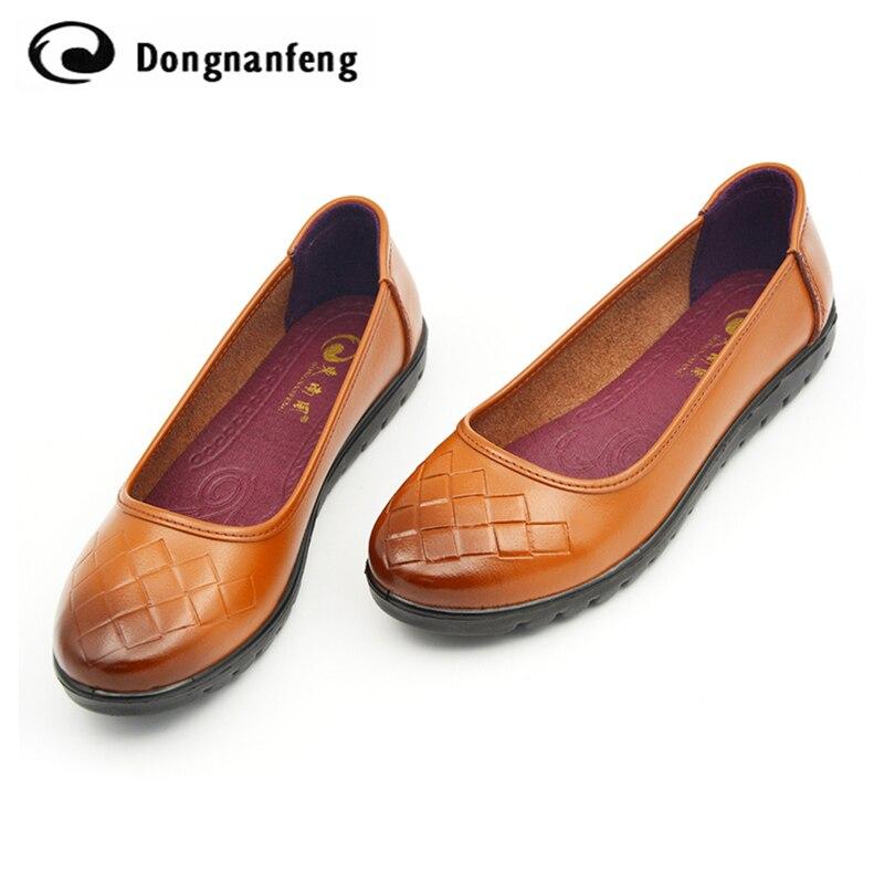 Zapatos de Mujer caliente Ys Ugs Madre Mocasines de Cuero Suave de Las Mujeres O