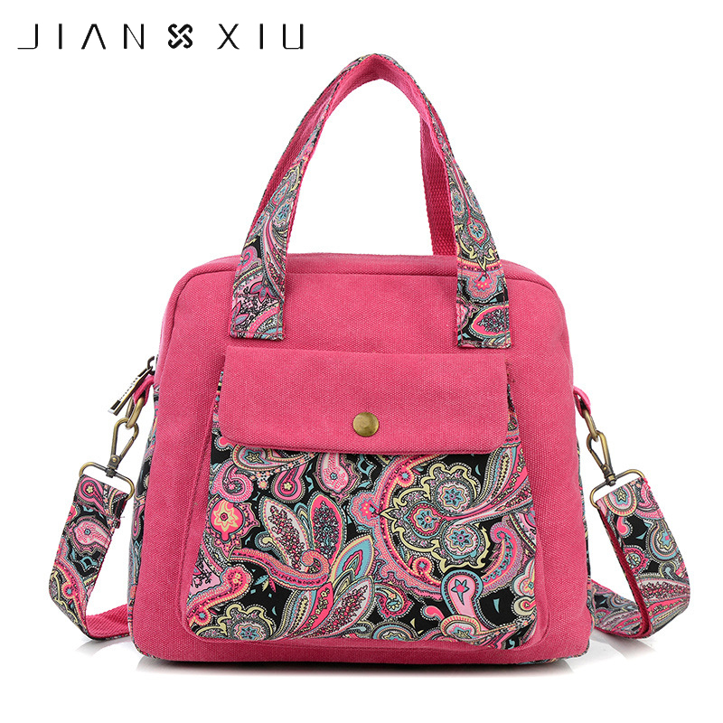 JIANXIU Fashion Vintage Chinese National Style Ethnic Shoulder Bag Boho Shoulder Bags free shipping vintage hmong tribal ethnic thai indian boho shoulder bag message bag pu leather handmade embroidery tapestry 1018