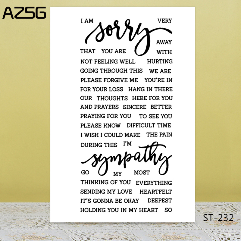 AZSG Expression Of Mind Comfort Yourself Clear Stamps/Seal For DIY Scrapbooking/Card Making/Album Decorative Silicon Stamp Craft