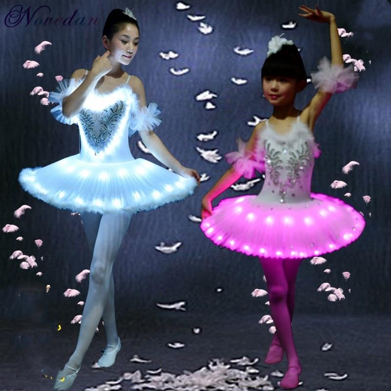 Stage & Dance Wear Alert Led Dance Ballet Skirt Light Adult Children Skirt Costumes Crony Lamp Luminous Square Princess Dress