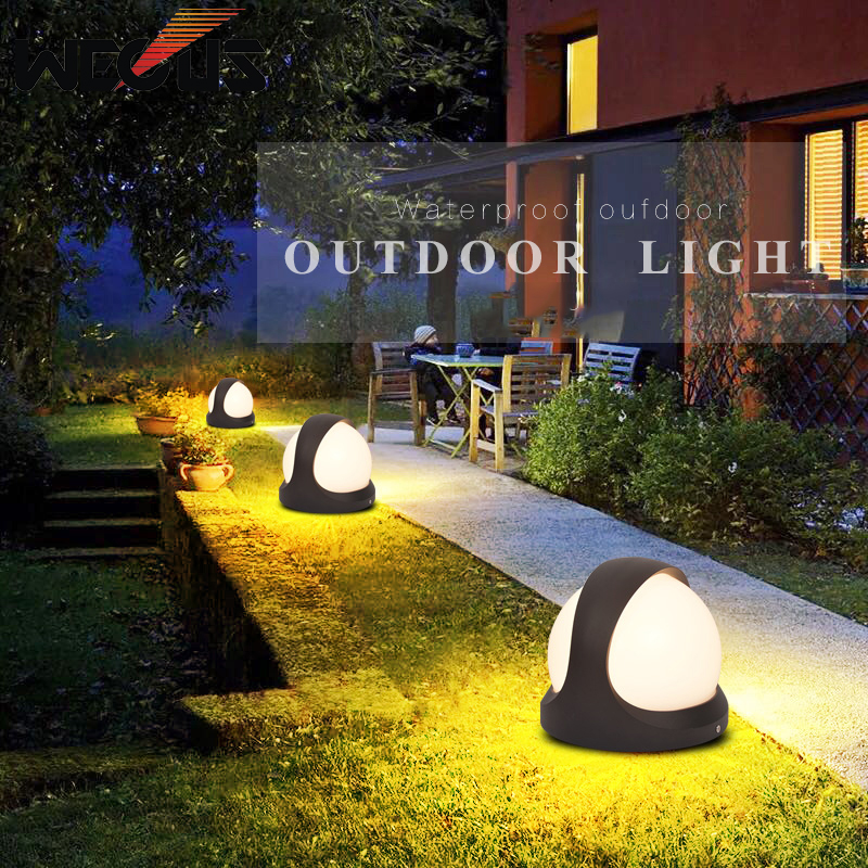 LED Outdoor lawn lamp modern simple waterproof courtyard landscape wall light garden floor lamp high quality led waterproof lawn light with solar panel outdoor courtyard garden floor decoration