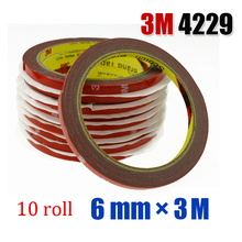 10pcs High Quality 3M Scotch Auto Truck Car High Strength Double Sided Foam adhesive Tape