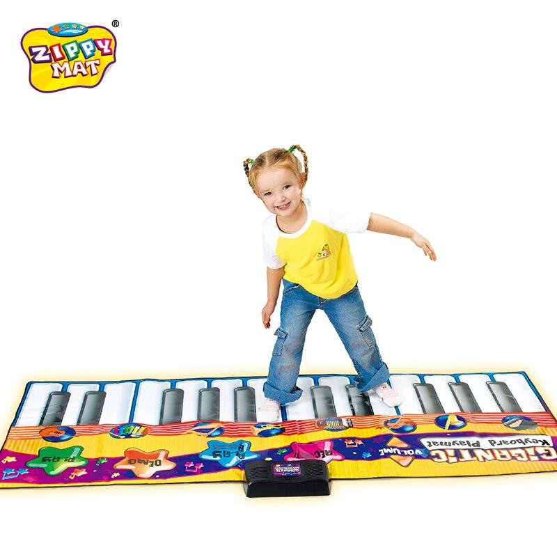 À Vendre! Clavier de Piano couverture claviers portables tapis de danse jouets musicaux outil d'éducation précoce jouets 17 clés 120*46 cm - 4